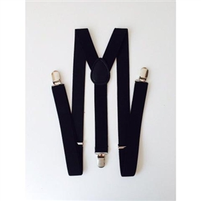 Boys Suspenders - BLACK
