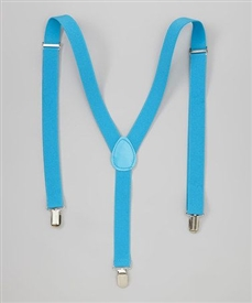 Boys Suspenders - Aqua
