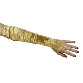 Adult Gloves - Gold/Beaded