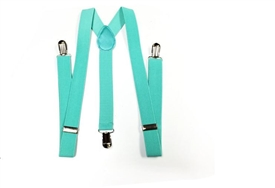 Boys Suspenders - Mint Green
