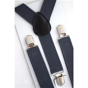 Boys Suspenders - Charcoal Grey