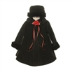 Evelyn - Baby Black Fleece Coat
