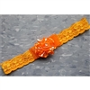 Lace Baby Headbands - Orange