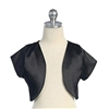 Tafetta Bolero Jacket - Black