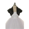 Satin Bolero Jacket - Black