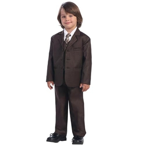 Charlie - 5pc Brown Boys suit