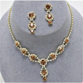 Necklace & Earring Set - Gold