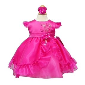 Phoebe Fuchsia Baby Dress
