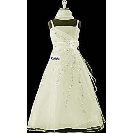 Kerri - Ivory Flower Girl Dress