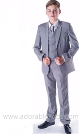 Allen 5pc Boys Suit - Slim Fit - GRAY