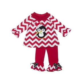 2pc Penguin Applique Set