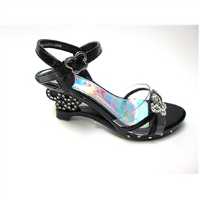 Girls Black Sandals