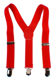Boys Suspenders - Red