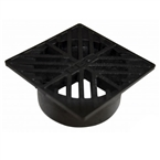 NDS - 02 - 4 in. Sq Grate-Black