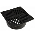 NDS - 08 - 5 in. Sq Grate-Black