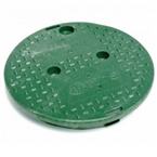 "NDS - 111C - Standard 10"" Round, Overlapping Lid, Green"
