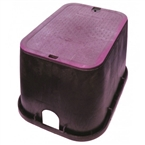 "NDS - 113PBCR - Standard 14""x19""x12"" Valve Box, with Overlapping Lid, Purple Body & Lid"