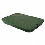 "NDS - 117C - Standard 13"" x 20"", Overlapping Lid, Green"