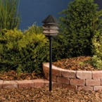 Kichler - 15005BKT - 12V Three-Tier Path & Spread Light, Textured Black