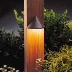 Kichler - 15065AZT - 12V Mini Deck Light, Textured Architectural Bronze