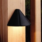 Kichler - 15065BKT - 12V Mini Deck Light, Textured Black