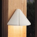 Kichler - 15065WHT - 12V Mini Deck Light, Textured White