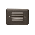Kichler - 15072AZT - 12V Acrylic Louvered Lens Deck Light, Textured Architectural Bronze
