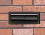 Kichler - 15073AZT - 12V Brick Wall Louvered Light - Textured Architectural Bronze