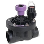 "Rain Bird - 150PESB-R - 1 1/2"" Plastic Industrial Valve with Scrubber, Reclaimed Water Cap"