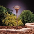 Kichler - 15236TZT - 120V Large Dome Path & Spread Light, Tannery Bronze