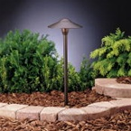 Kichler - 15310AZT - 12V Dome Path & Spread Light, Textured Architectural Bronze