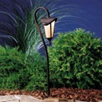 Kichler - 15313TZG - 12V Layfayette Lantern Path & Spread Light, Tannery Bronze with Gold Accents