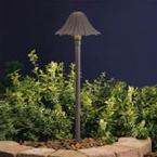 Kichler - 15314AZT - 12V Single-Tier Leaf Path & Spread Light, Textured Architectural Bronze