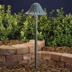Kichler - 15314MST - 12V Single-Tier Leaf Path & Spread Light, Textured Architectural Bronze