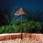 Kichler - 15328AZT - 12V Large Center Mount Path & Spread Light, Textured Architectural Bronze