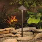 Kichler - 15418AZT - 12V Ribbed Roof Path and Spread Light, Textured Architectural Bronze