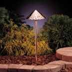 Kichler - 15443CO - 12V Hammered Roof Path & Spread Light, Copper