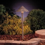 Kichler - 15443OB - 12V Hammered Roof Path & Spread Light, Olde Brick