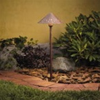 Kichler - 15443TZT - 12V Hammered Roof Path & Spread Light, Tannery Bronze
