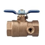 Febco - 781-054LL - 1-inch Lead Free Ball Valve, Tapped