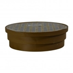 "NDS - 919PB - 6"" Rd Brass Grate for Spee-D Basin"