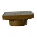 "NDS - 920B - 6"" Sq Brass Grate with Adpt"