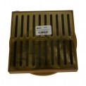 "NDS - 922PB - 6"" Sq Brass Grate for Spee-D Basin"