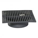 "NDS - 960 - 9"" Sq Grate-Grey"