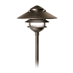 "FX - DR-20-2T-18R-BZ - DM Path Light, 20 Watt Xenon, 2-Tier, 18"" Riser, Bronze Metallic"