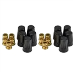 Unique - LWN-10 - Solid Brass Threaded Lug Nut
