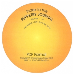 Index to the Puppetry Journal, Vols 1-61: 1949-2010 - CD-Rom