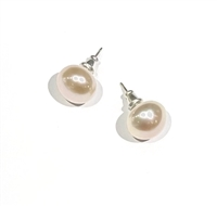 Fine Pearls and Leather Jewelry by Designer Wendy Mignot Coastal Petite Blush Freshwater Pearl Stud Earrings