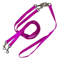 Pet Walker Plus No Tangle Leash for 2 Dogs - Medium / Hot Pink