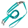 Pet Walker Plus No Tangle Leash for 2 Dogs - Medium / Turquoise